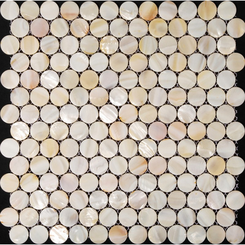 Penny Round Mother Of Pearl Tile Backsplash For Kitchen And Bathroom - Cheap penny round tile