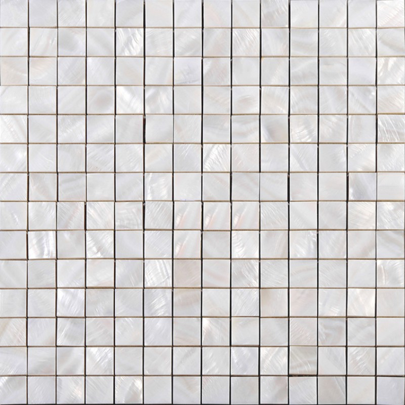 Mother Of Pearl Square Mosaic Backsplash White Natural Shell Materials 4 5 Seashell With
