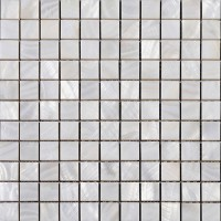 """Mother of pearl square mosaic backsplash white natural shell materials 1"""" seashell with base wall tiles for kitchen and bathroom ST011"""