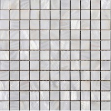 "Mother of pearl square mosaic backsplash white natural shell materials 1"" seashell with base wall tiles for kitchen and bathroom ST011"