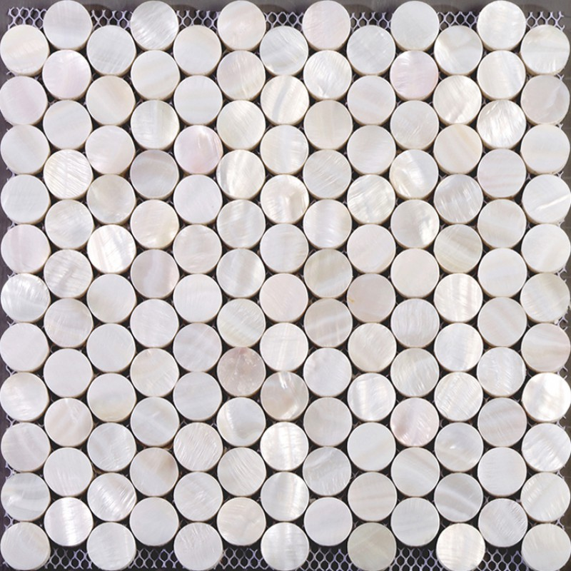 seashell tiles mother of pearl tile backsplash for kitchen and bathroom penny round mosaic tile decoration