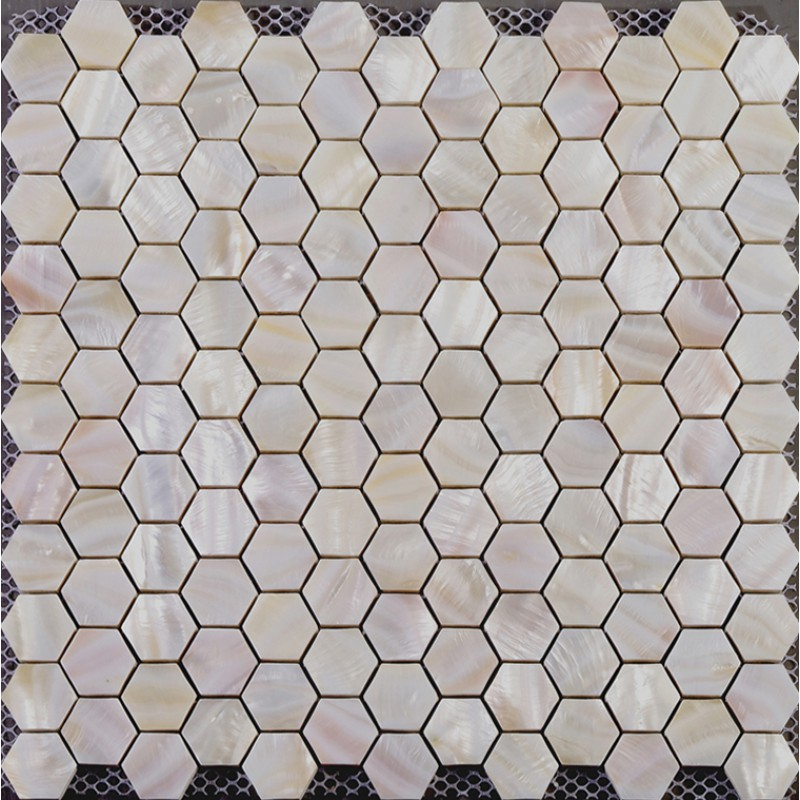 Hexagon Mosaic Mother Of Pearl Tiles Backsplash Bathroom Shower Designs Iridescent Seashell Tile Natural