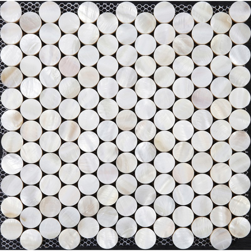 Penny Round Tile Bathroom Shower Designs Mother Of Pearl Mosaic Backsplash  Cheap White Shell Tiles For ...
