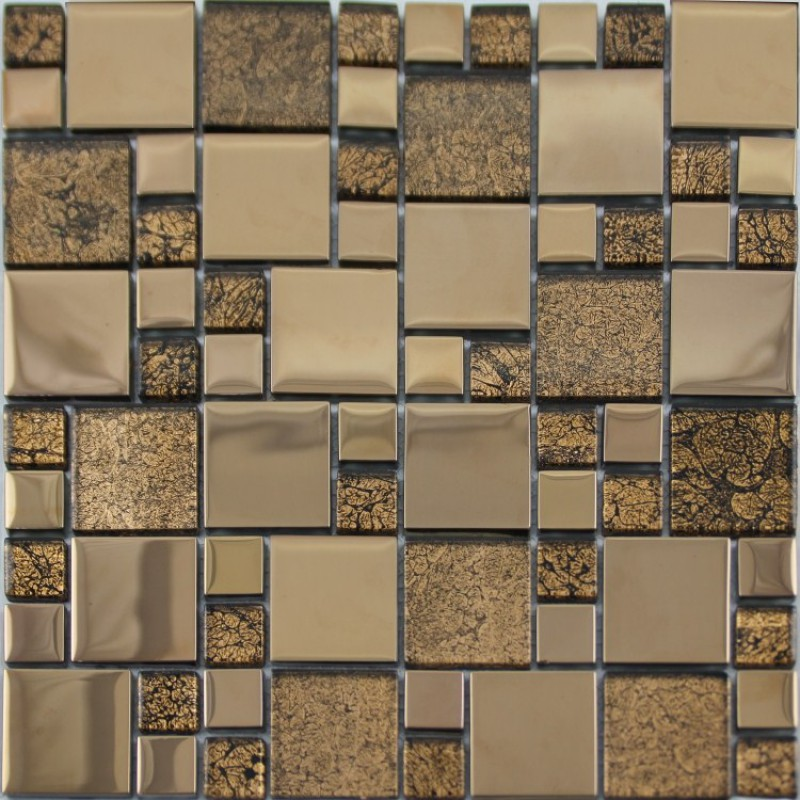free kitchen tiles glass mosaic tile plated metal coating tile 1070