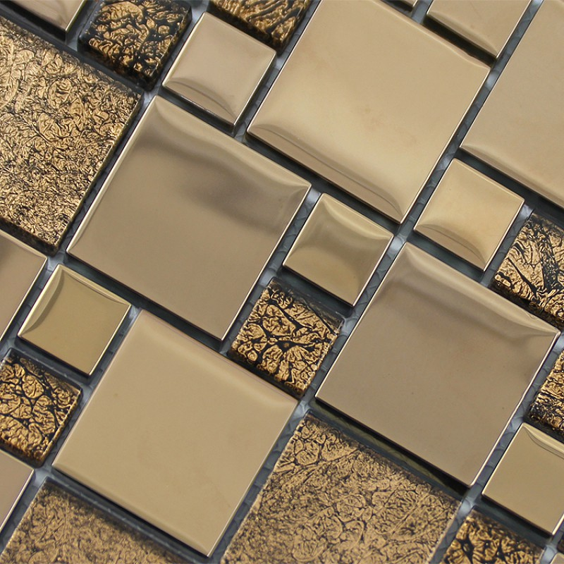 Crystal Gl Mosaic Tile Plated Metal Coating Tiles Kitchen Backsplash Free Shipping Floor Sticker