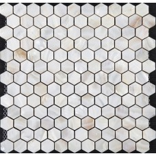 "Mother of pearl tiles backsplash cheap hexagon mosaic bathroom shower tiles designs 1"" seashell tile natural shell materials ST039"