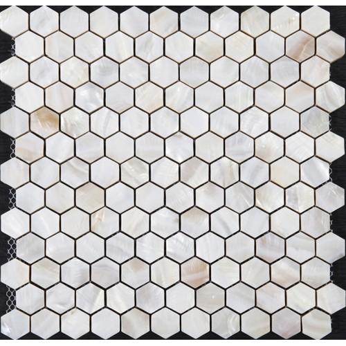 "Mother of pearl tiles backsplash cheap hexagon mosaic bathroom shower tiles designs 1"" seashell tile natural shell materials ST039"
