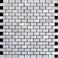 Mother of pearl subway tiles with base freshwater shell mosaic 3/5x1-1/6 inch kitchen backsplash wall decor tile bathroom ST055