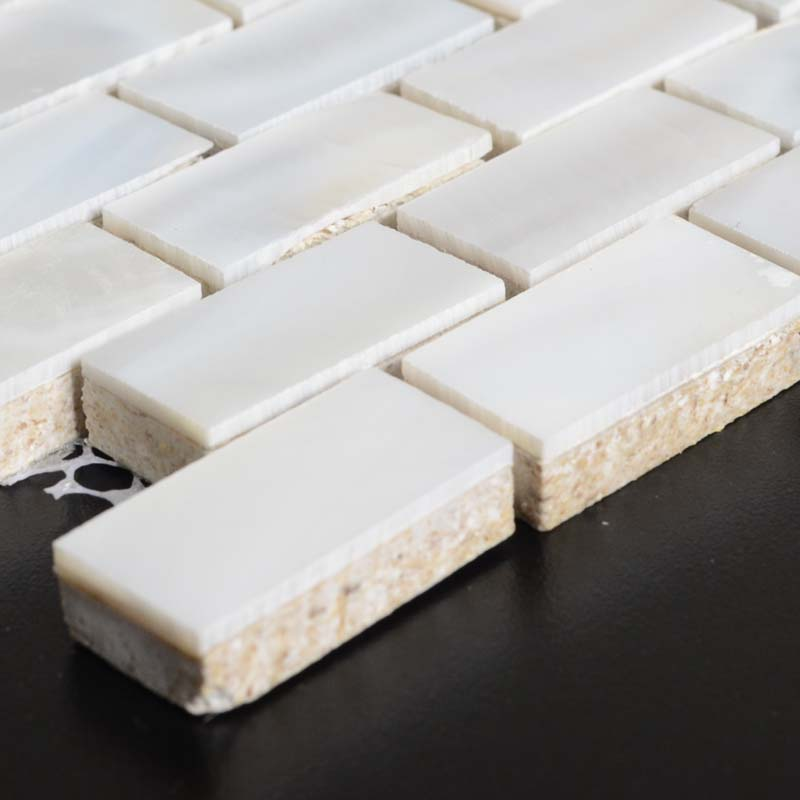 Mother Of Pearl Subway Tiles With Base Freshwater Shell