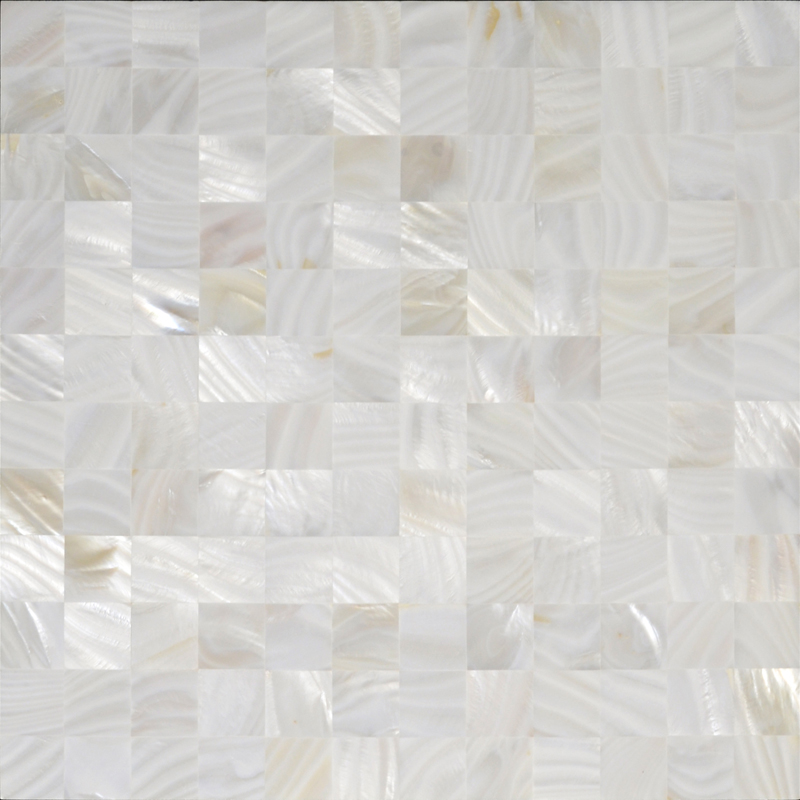 Natural Shell Tiles Wall Mirror Stickers Mother Of Pearl