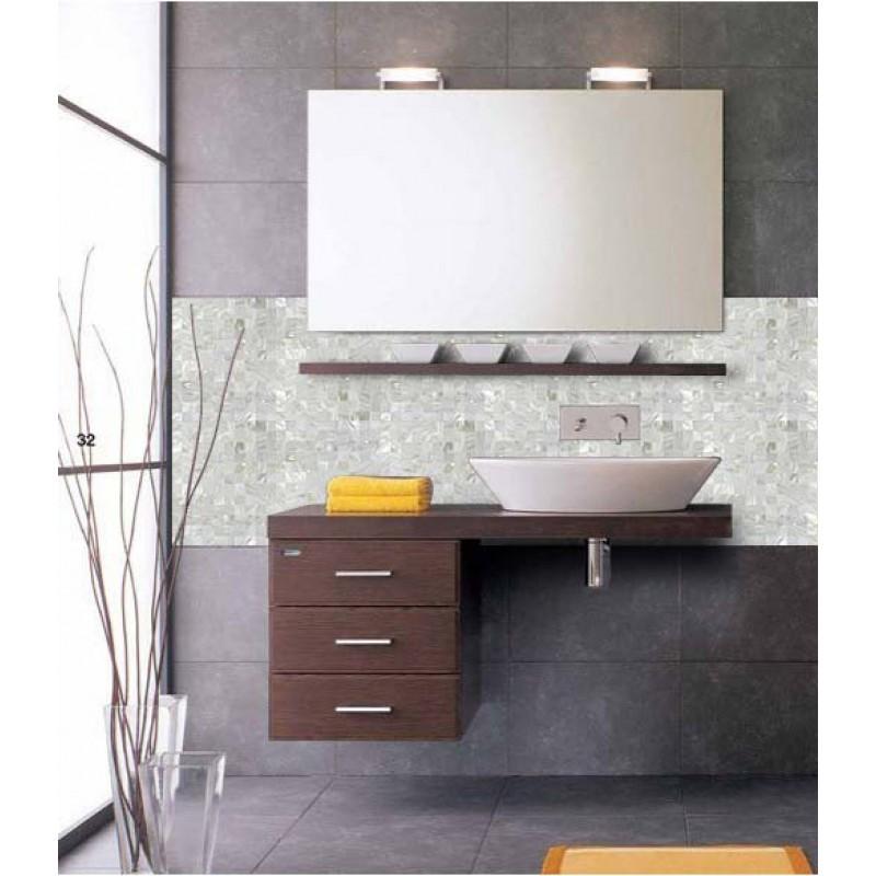 Natural Shell Tiles Wall Mirror Stickers Mother Of Pearl Tile Backsplash Kitchen Design Seashell Mosaic Bathroom