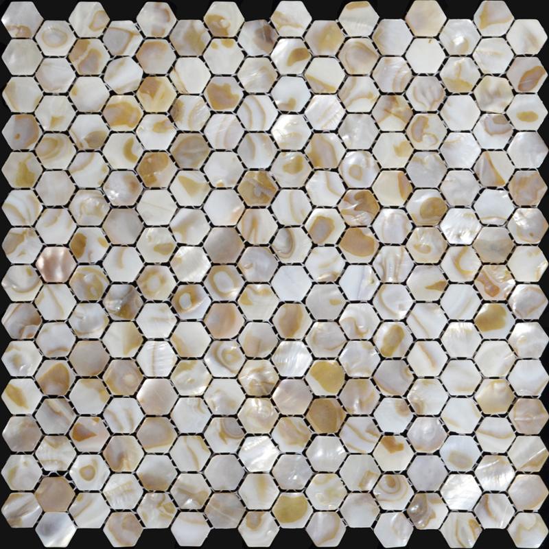 Natural Seashell Mosaic Iridescence Mother Of Pearl Tile