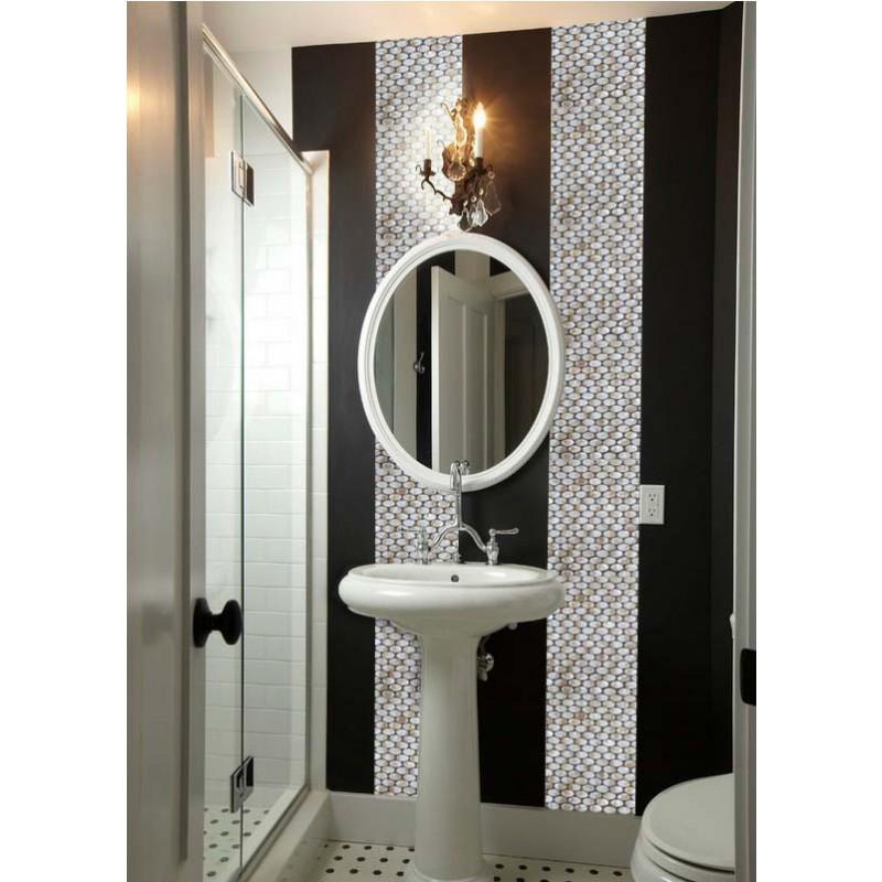 Mother Of Pearl Tile Backsplash Kitchen Designs Ellipse Shell Tiles Wall Mirror Natural Seashell