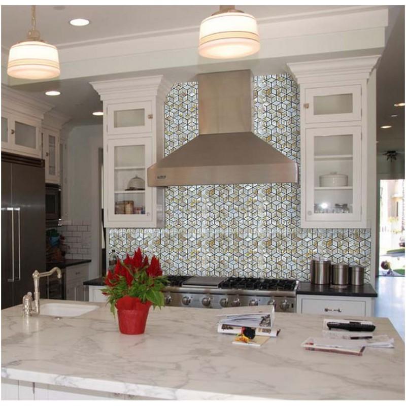 ... Mother of Pearl Shell Tile diamond sheets Iridescence Seashell Mosaic 3d designs Kitchen Backsplash Tiles Bathroom ...