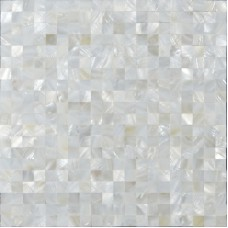 """White mother of pearl shell tiles mosaic sheets seamless square 3/5"""" natural shell tile backsplash for kitchen and bathroom wall tiles ST076"""