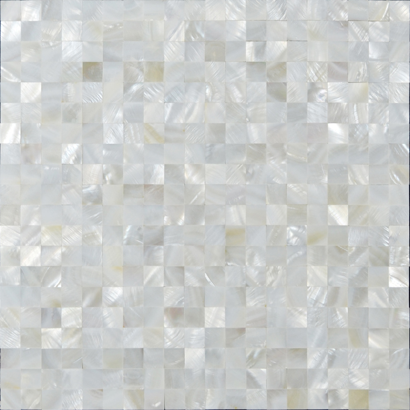 White Mother Of Pearl Shell Tiles Mosaic Sheets Seamless