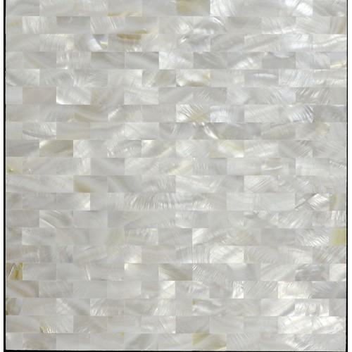 Seamless shell mosaic with base white subway tile backsplash cheap 3/5x1-1/6 inch mother of pearl tiles for kitchen and bathroom ST078