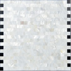 White mother of pearl shell tiles mosaic sheets subway tile backsplash for kitchen walls seashell mosaic mirrors for bathrooms ST081
