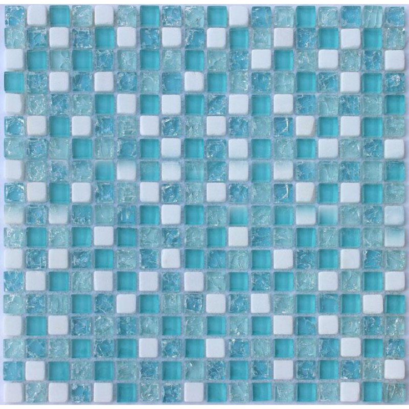 Crystal Glass Mosaic Tile Sheet STBL001 Kitchen Backsplash Tile ...