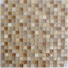 Crystal Glass Tiles Ice Cracked Glass Mix Cream White Stone Mosaic Wall Tile Backsplash Kitchen Design Floor Tile STBL011
