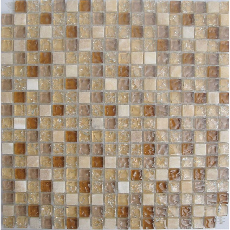 crystal glass tiles ice cracked glass mix cream white