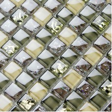 Brown glass tile backsplash ideas bathroom mosaics ice crackle crystal wall tiles design tiling with mosaic sheets CGT024