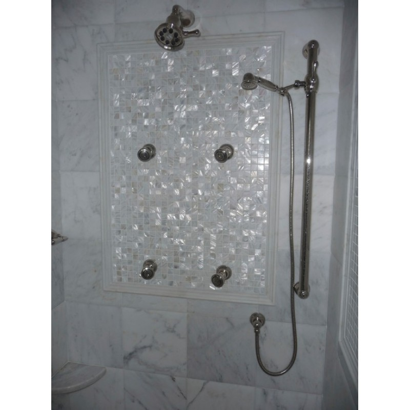 Exceptionnel ... Mother Of Pearl Tile Mosaic Square 1 Inch Freshwater White Shell Tiles  Kitchen Backsplash Bathroom Shower