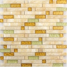 Crystal Glass Diamond Tile sheets Stone mix Glass Mosaic Wall Tiles Hand Glass Mosaic designs dmperador dark Marble Tile T040