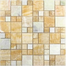 Stone Mosaic Wall Tiles Backsplash Yellow Mosaic Brick designs for Bathroom and Kitchen Marble Tile Flooring T042