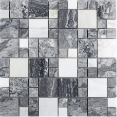 Natural MarbleTiles Sheet Diamond Stone Mosaic Tile Art Wall Stickers Kitchen Backsplash Tile Design Bathroom Shower Floor Tiles