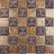 Glass mosaic tile sheets embossed patterns resin T1265 brick tile backsplash kitchen Crystal glass tiles Bathroom wall sticker