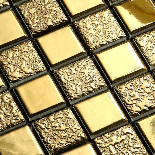 Porcelain Tile Floor Tile Sheets Plating Mosaic Tiles T173 Bathroom Wall Mirror Tiles Backsplash Stickers Kitchen Design Pool