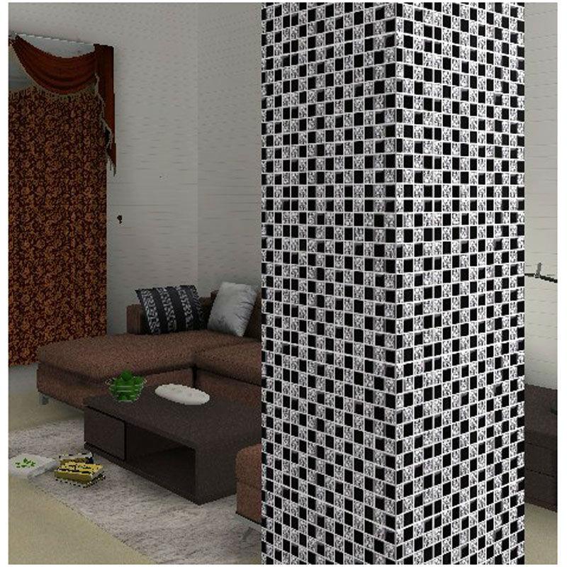 Black Mosaic Tiles Kitchen: Black Glass Tile Backsplash Crystal Mosaic Wall Tile