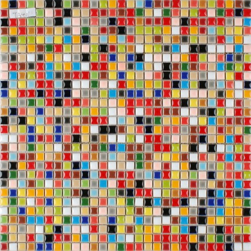 Multi-color porcelain tile kitchen floor small chips glazed ceramic mosaic PMT401 iridescent bathroom wall tile backsplash