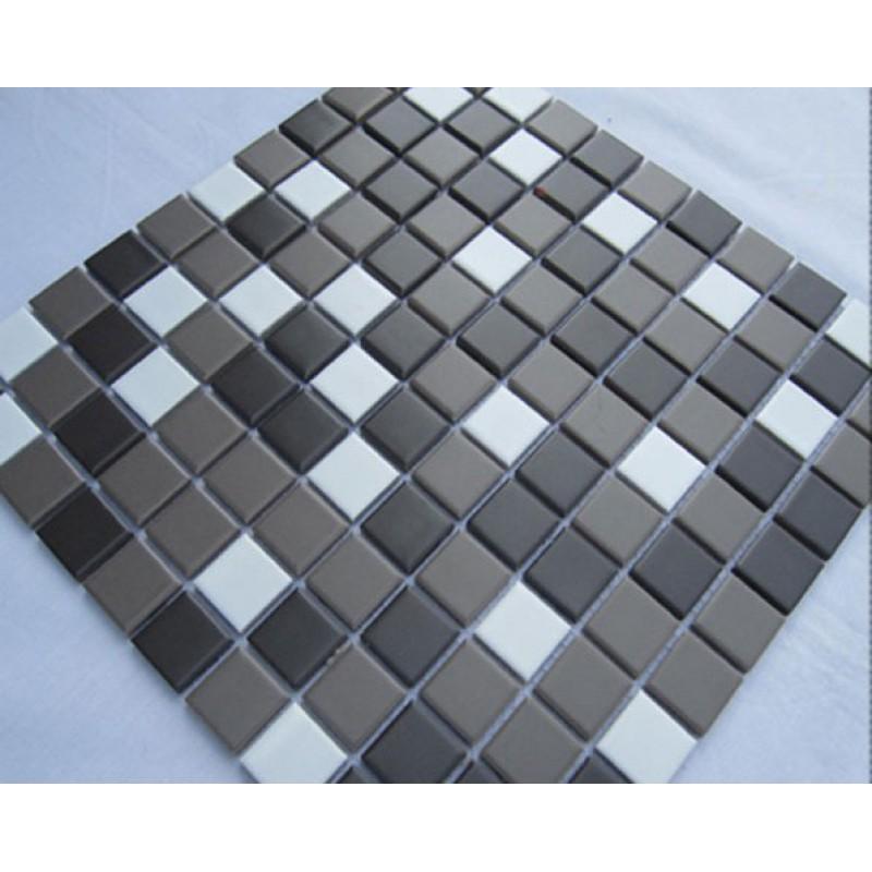 Porcelain Ceramic Mosaic Tile Gray White Porcelain Wall Tiles Cover 1 Sq Ft F