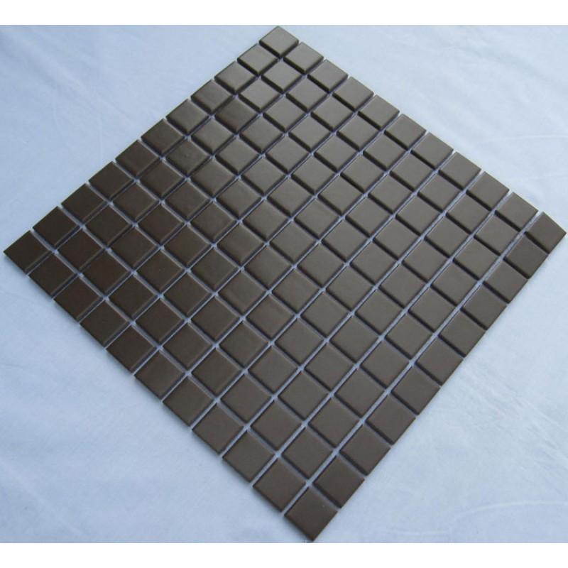 Porcelain Ceramic Wall Tile Brown Swimming Pool Mosaic Cover 1 Sq Ft For  Each Sheet TC 013 Kitchen Backsplash Bathroom Tiles