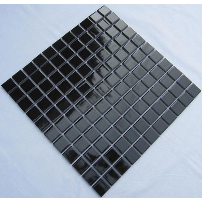 ceramic mosaic tile black porcelain wall tiles cover 1 sq ft for ...