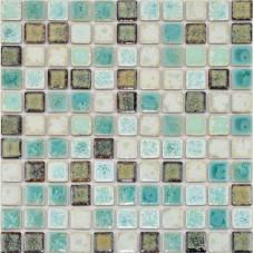 Porcelain Tile Backsplash mix-colors Ceramic Wall Tiles Mosaic Porcelain Floor Tile  Kitchen backsplash Pebble Mosaics TC-2508TM