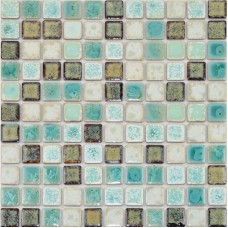 Porcelain Tile Backsplash mix-colors Ceramic Wall Tiles Mosaic Porcelain Floor Tile  Kitchen backsplash Pebble Mosaics TC-2508TM