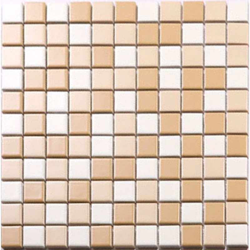 Beige and white porcelain mosaic glazed tile swimming pool for Swimming pool ceramic tile