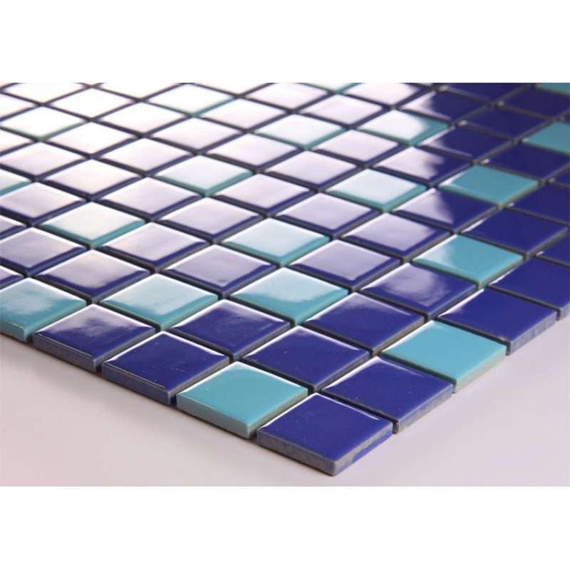 Porcelain mosaic tile sheets tile design ideas for Swimming pool ceramic tile
