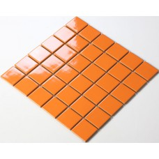 ceramic porcelain mosaic tile brick orange  bathroom tile flooring glazed kitchen backsplash cheap TC48008 swimming pool tile shower wall tiles