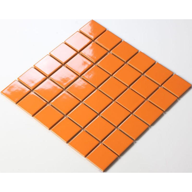 Ceramic Porcelain Mosaic Tile Brick Orange Bathroom Flooring Glazed Kitchen Backsplash Tc48008 Swimming Pool