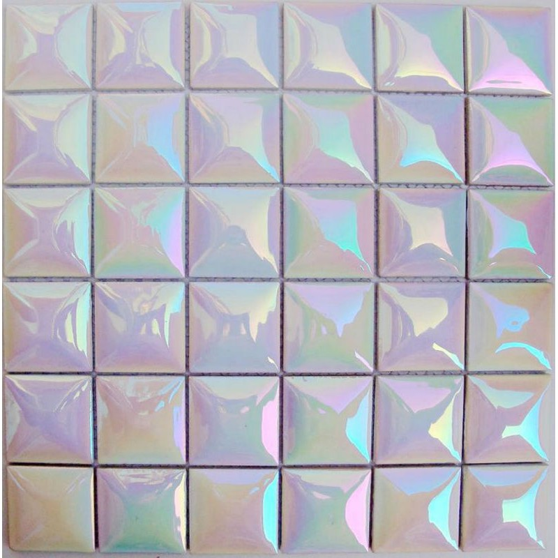 Kitchen Porcelain Mosaic Tile Sheets Iridescent Ceramic Tiles Flooring Glossy Wall Backsplash Tc4803 Bathroom Stickers