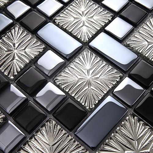 blue metal coating mosaic tiles art design tile bedroom kitchen washroom hall backsplashes tile decorative KQYT171