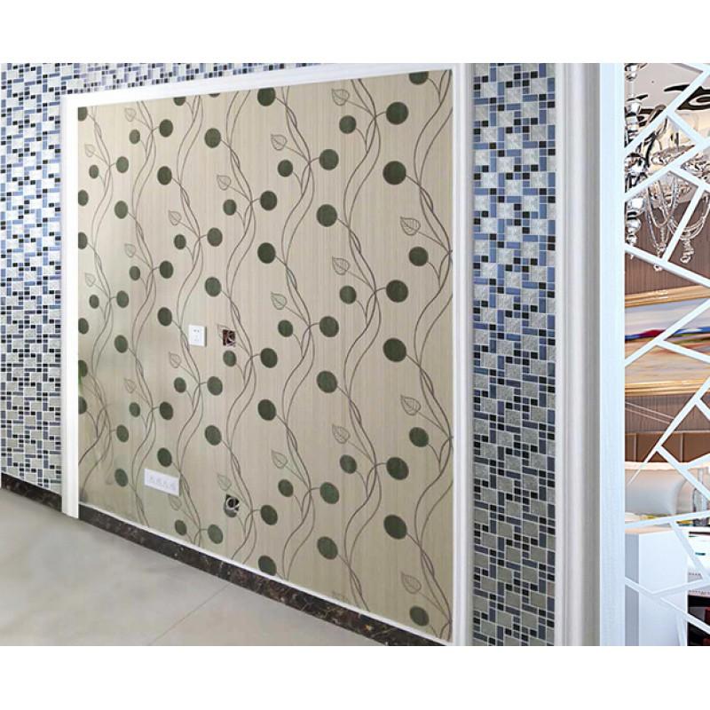 Blue metal coating mosaic tiles art design tile bedroom for Washroom tiles design