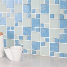 light bule crystal glass mosaic tile forst glass tiles kitchen bathroom hall backsplashes tile FREE SHIPPING hand painted KQYTJ29