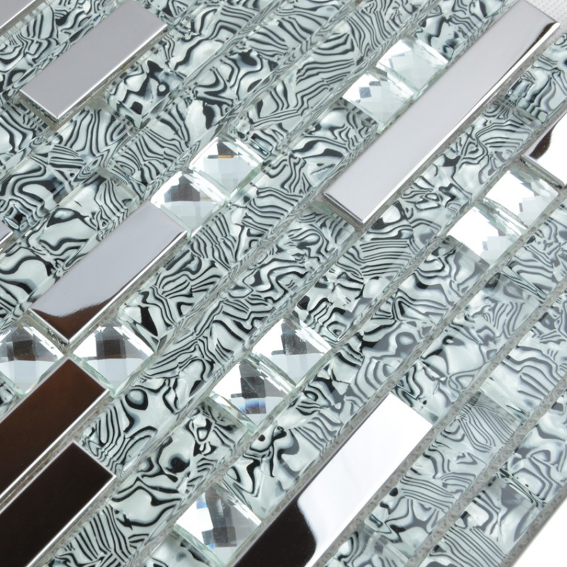 glass and metal backsplash tiles for kitchen and bathroom metal glass tile bathroom wall backsplash stainless steel