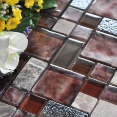 crystal glass stone mosaics kitchen backsplash cheap marble glass mosaic sheets GSSFT01 bathroom shower mirror wall designs free shipping tiles