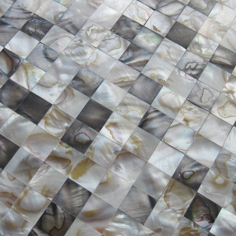 Stained Mother of Pearl Shell Tile Seamless Seashell Mosaic Sheets